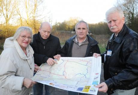 Independant councillors Doreen Anderson, Neville Watson, Dave Blackwell and John Anderson, who were against the plans