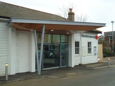 Shoebury Station with new entrance and canopy