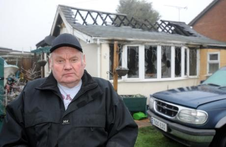 Devastated - Owner Tom Grant outside his home in Rose Road, Canvey