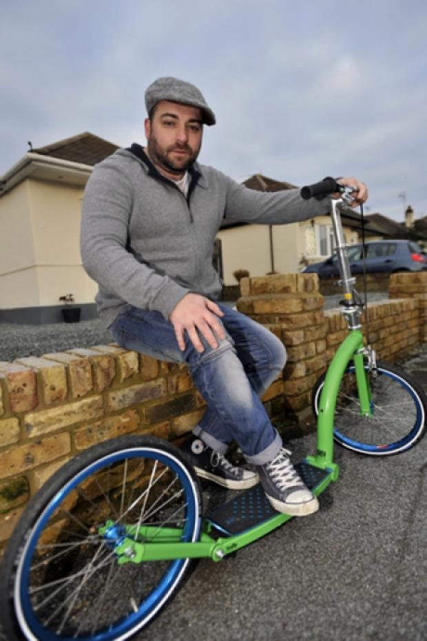 Echo: Scott Langley - ready to scoot off for charity