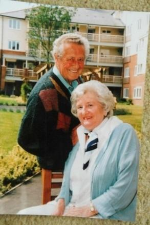 Greta and Trevor Bailey pictured together. They were married for 62 years before Trevor's tragic death in February 2011