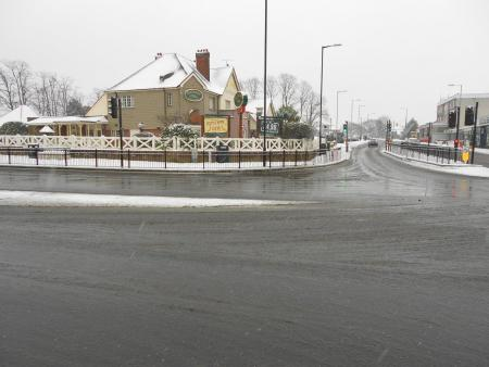 Deserted A13 at Tarpots by Phil Hubbard