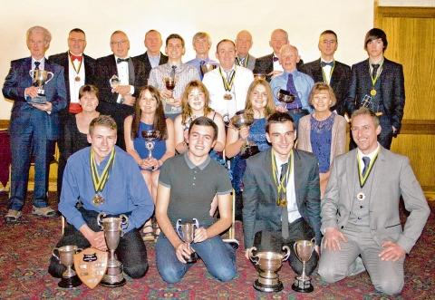 Winning ways — the Southend Wheelers award winners with their trophies