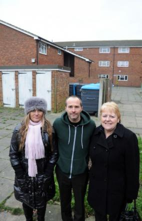 Set for change - ward councillors Gail Barton and Lee Barrett with councillor Beverley Egan