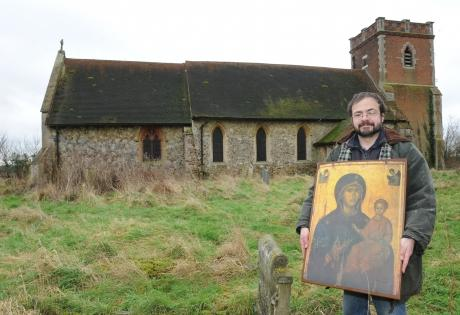 Reader Paul Brighton-Cross outside the North Benfleet All Saints church