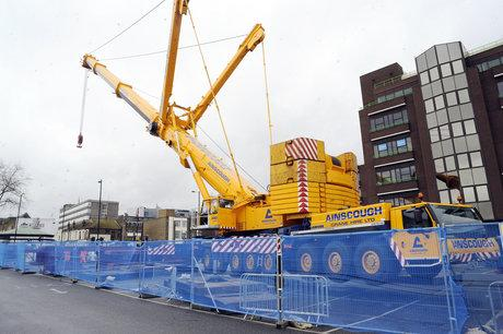 Crane arrives to move 130-year-old rail bridge in Southend