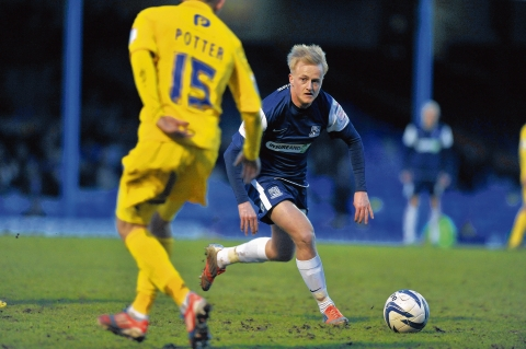 Ben Reeves - impressed for Southend United against Cheltenham Town