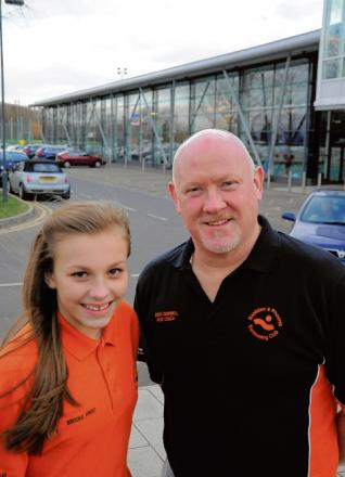 Going swimmingly — Brooke Frost and Doug Campbell are working hard at Basildon Sporting Village