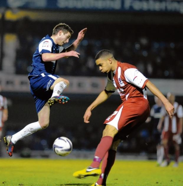Danny Mayor - made his Southend United debut against Cheltenham Town on Tuesday night