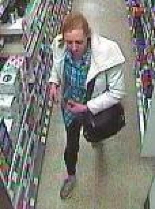 CCTV released of shoplifter