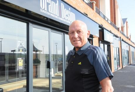 Brian Chelton, MD of Duration Windows, outside the new exhibition centre Grand Design
