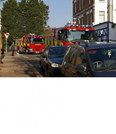 Firefighters forced to abandon fire engines