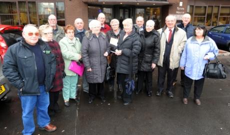 Echo: Dejected - residents of Kings Park Village outside Southend County Court