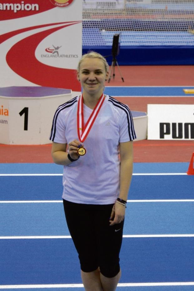 Hayley McLean with her gold medal