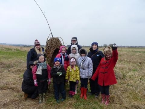 New wicker installations have been introduced in the RSPB West Canvey Marsh.