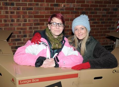 Nikki Jew and Natasha Evans were among the volunteers taking part