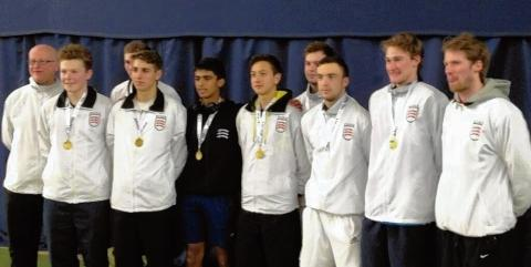 Winning ways — the Essex U18 team, which has been promoted to Division One