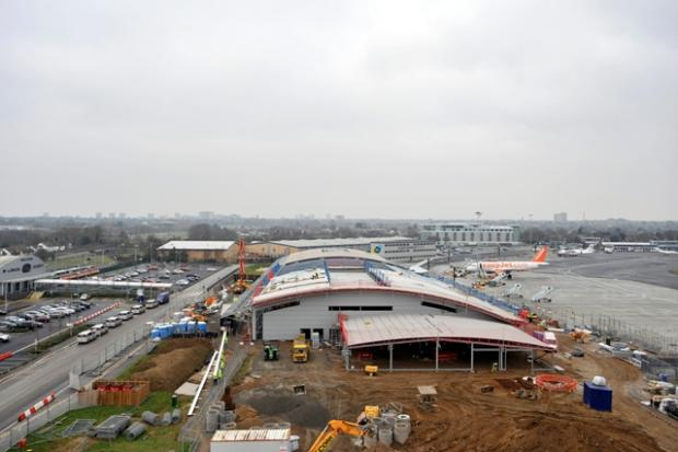 The new terminal being built