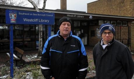 Peter Zanchi and David Webb, of Westborough Community Association, outside Westcliff Library