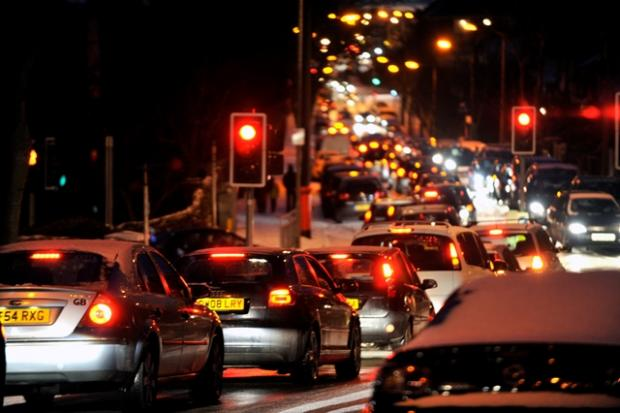 Gridlock in Leigh on Monday night