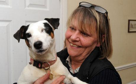 Karen Quinn with her dog, Cookie.