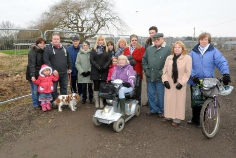 Residents unhappy at problems caused by the Christmas Tree Farm development, Hawkwell