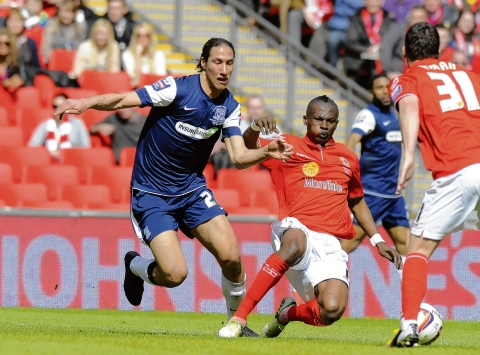 Bilel Mohsni in action during his last game for Southend UNited