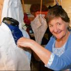 Linda Payne makes her own Victorian-era clothes, a passion that led to a role in the film production of Les Miserables