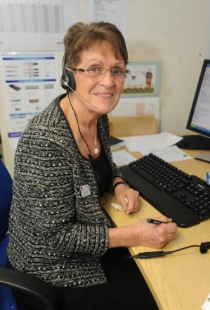 Jackie Reid manning the diabetes helpline