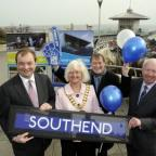 Rochford and Southend East MP James Duddridge, councillor Sally Carr, Southend West MP David Amess and Derek Jarvis, cabinet member for culture