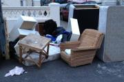 Dumped: Bedbases, matresses, sofas and other bulky items are obliterated in waste plant