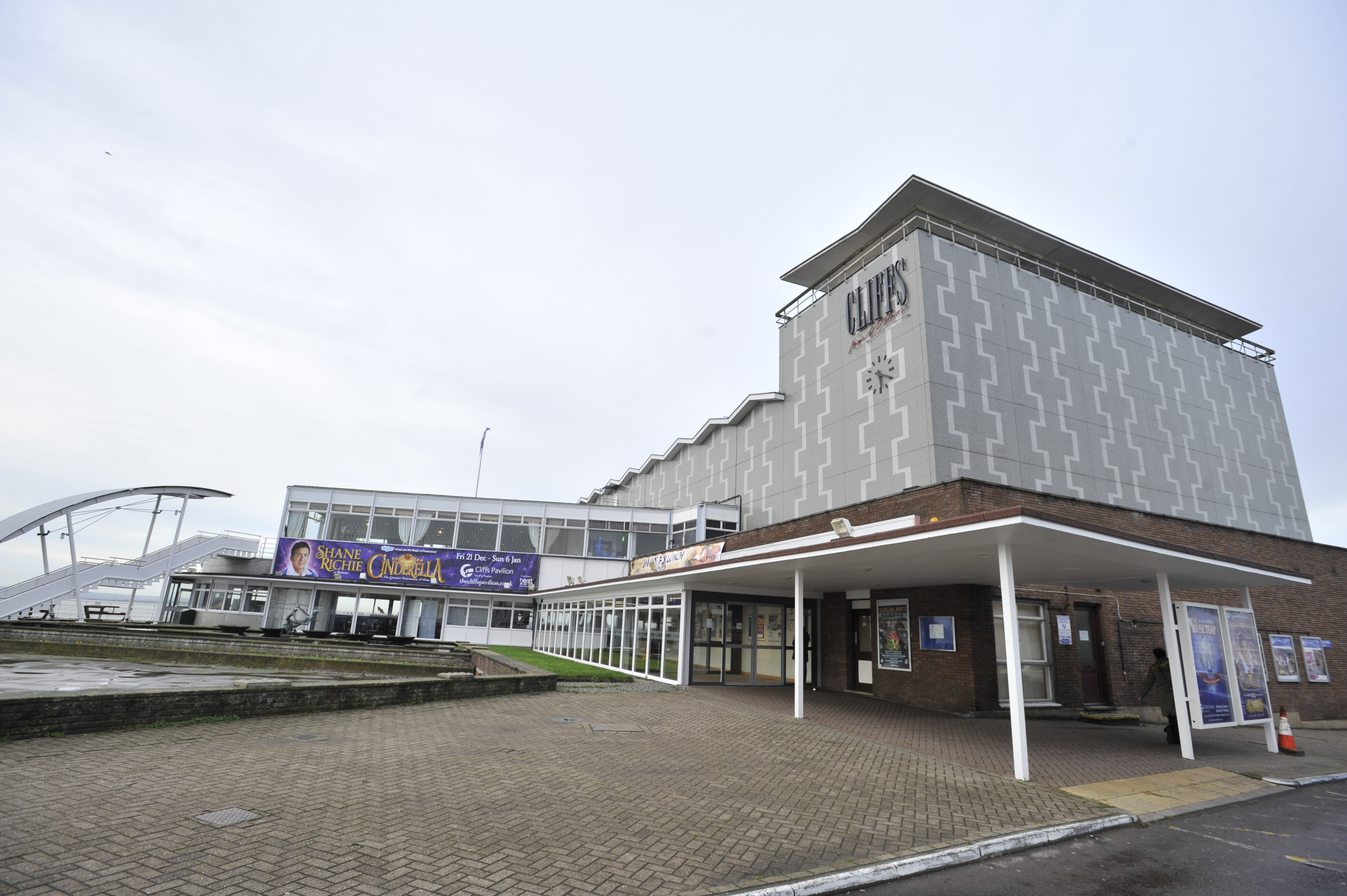 The man was found outside Cliffs Pavilion on Station Road