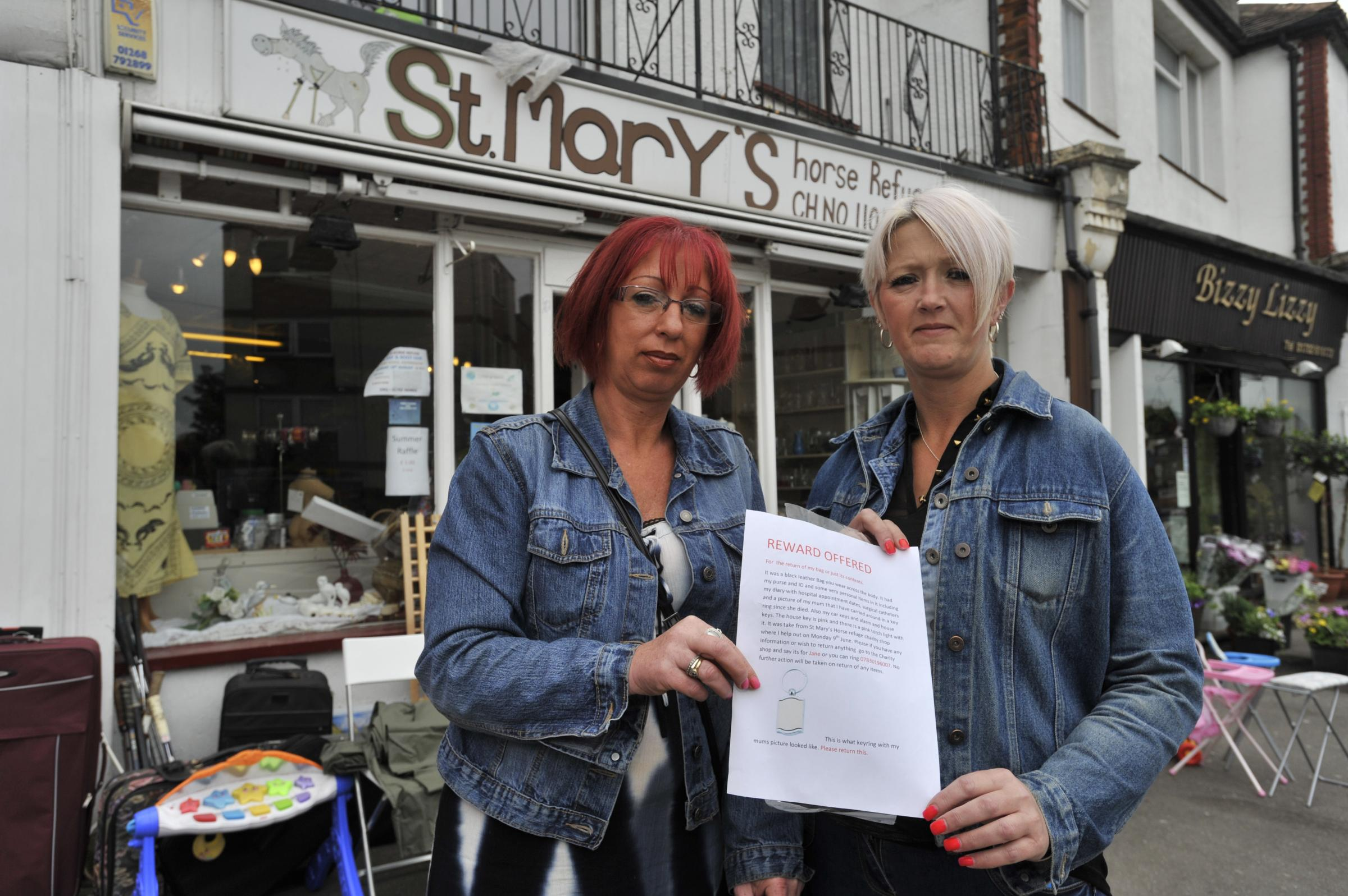 Picture appeal – Jane Byrne with her friend, Tracey Tyzack, who has been helping her search for the stolen photo