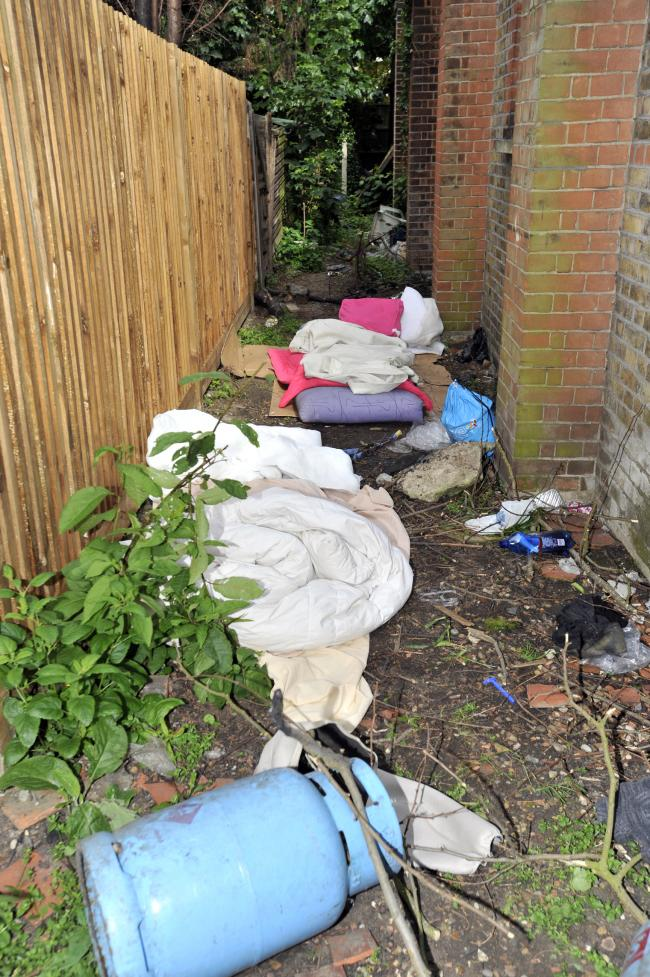 Vile – the alley between Harp's homeless centre and residents' homes.
