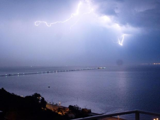 SPECTACULAR: This stunning image of lightning over Southend pier was captured by Echo reader KIM ADAMS during the early hours