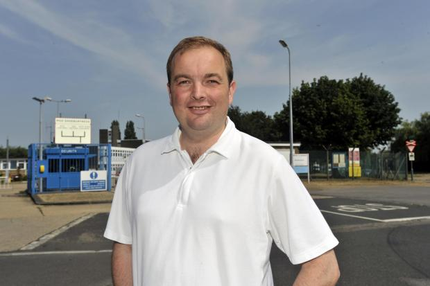Echo: James Duddridge MP, outside the MoD site in Blackgate Road