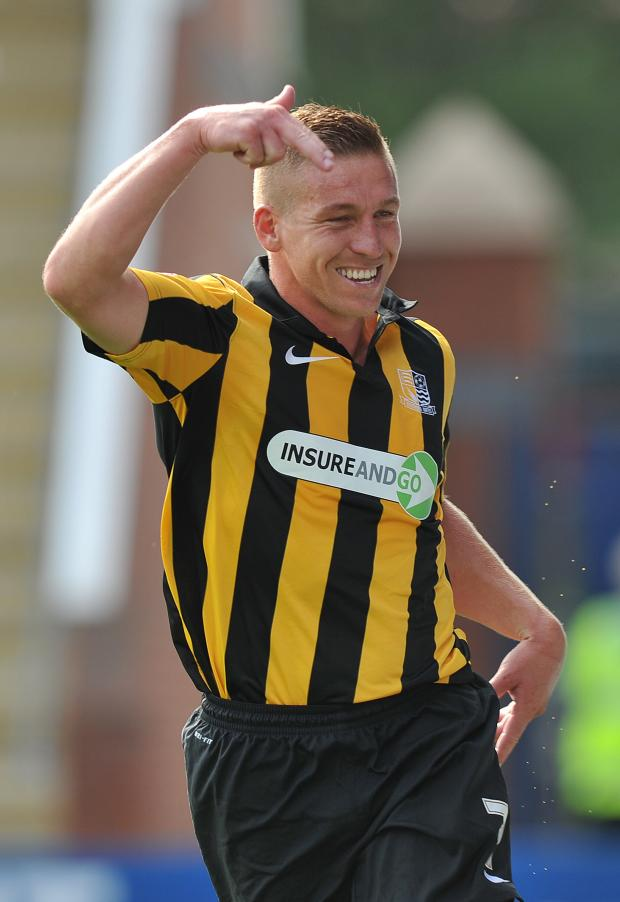 Echo: Freddy Eastwood - set to make his 200th appearance for Southend United tonight