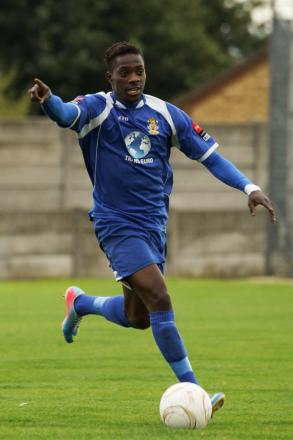Junior Appiah in Aveley colours