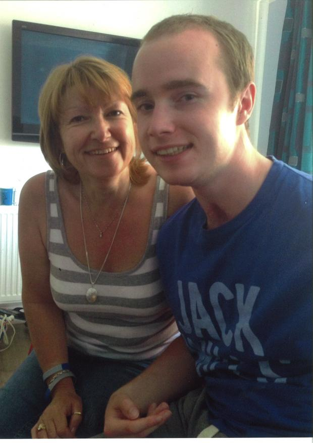 Echo: Reece Clarke, with his late mother Wendy