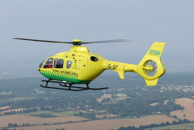 Echo: Air ambulance called to collapsed man in town centre