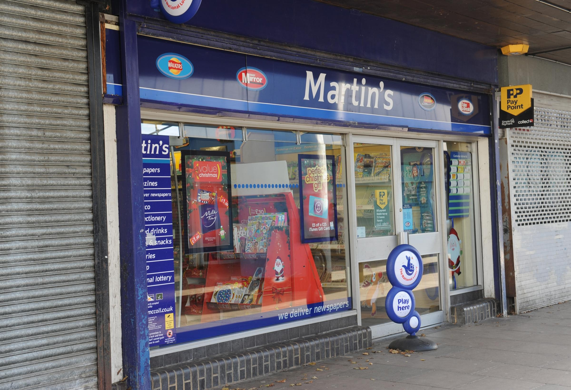 Yet another Martin's newsagent knife raid