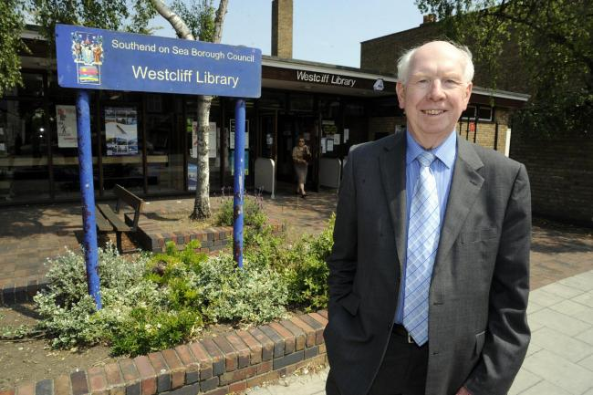Shake-up – councillor Derek Jarvis at a library