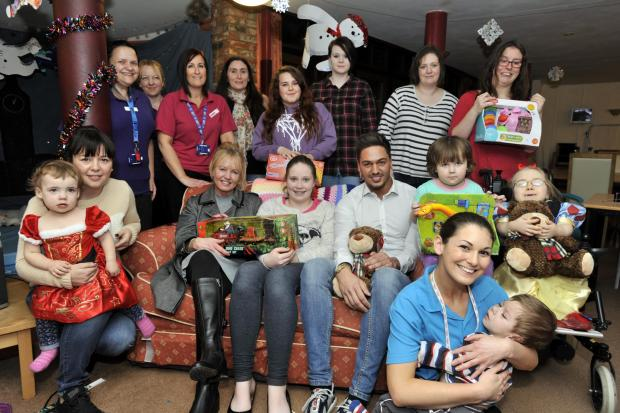 TOWIE's Mario takes gifts to children's hospice