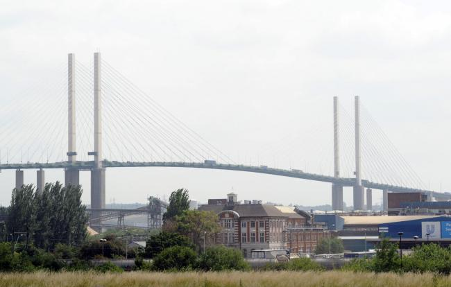 Long queues of traffic after QE2 Bridge crash