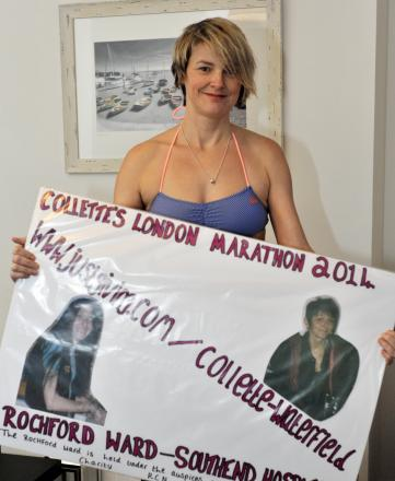 Collette's icy fundraiser in the Thames