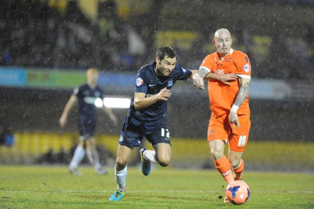 Will Atkinson in action during Southend United's 4-1 win against Millwall at the weekend