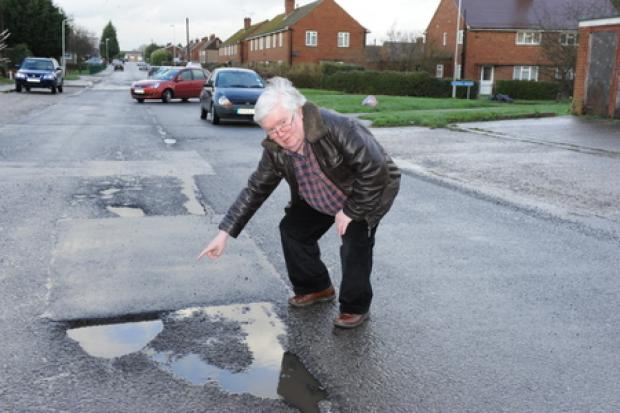 Echo: Awful road surface – says councillor Phil Rackley