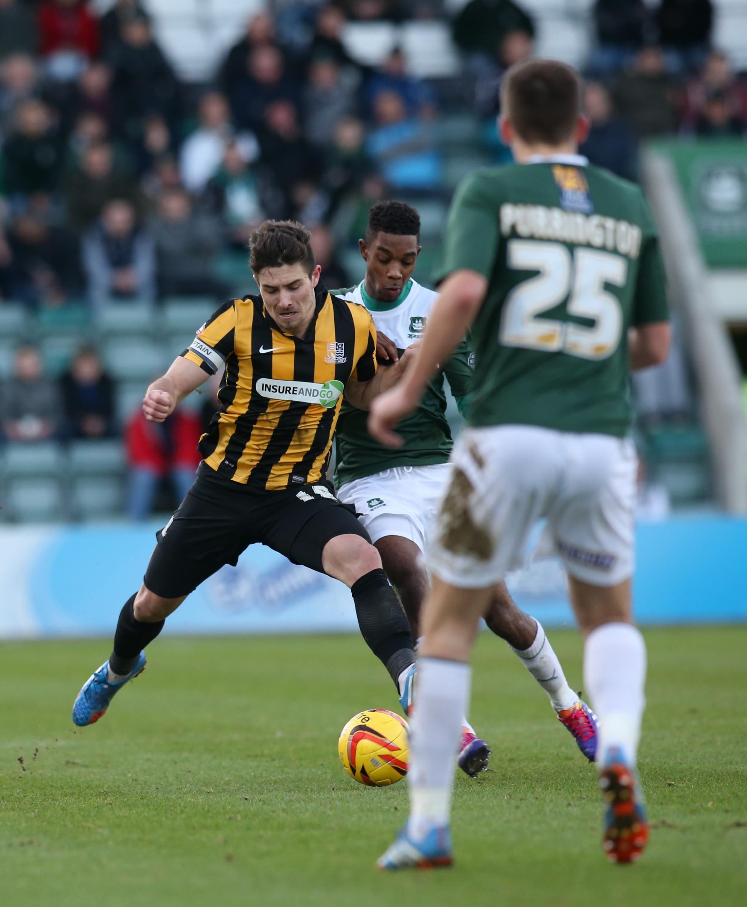 Ryan Leonard - lined up at right-back at Plymouth Argyle on Saturday