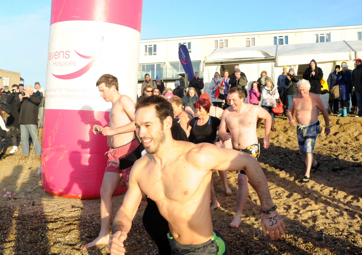 Fundraisers take to the sea in charity dip