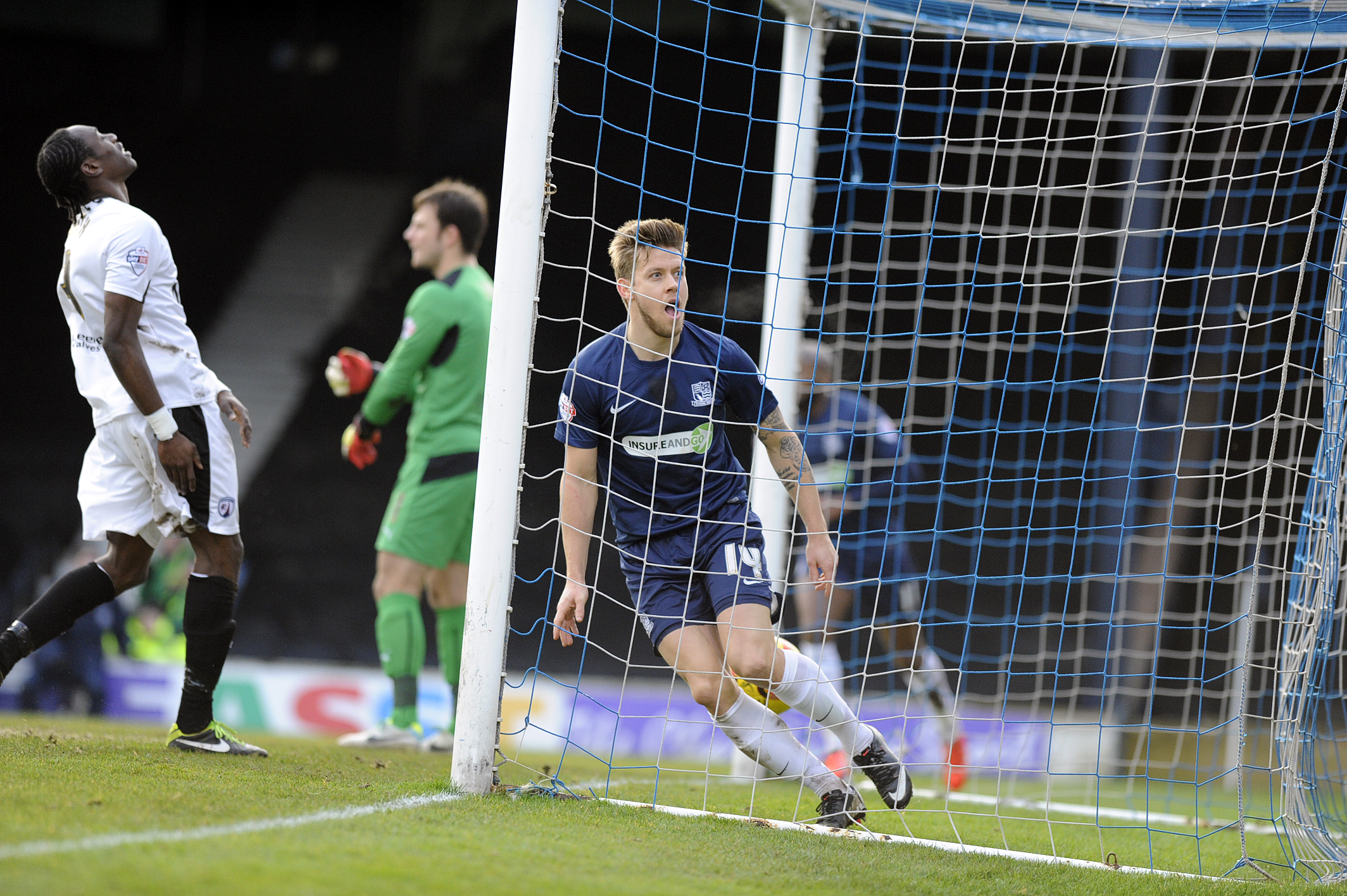 Kevan Hurst celebrates putting Southend United in front